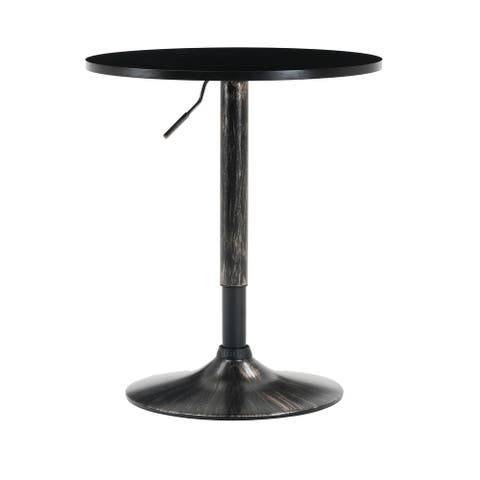 Carbon Loft Reynor Adjustable Antique Golden Base Bar Table - 27 to 36.2 inch Height
