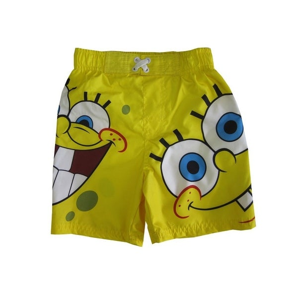 479ff6872e115 Shop Nickelodeon Little Boys Yellow SpongeBob SquarePants Swimwear Shorts -  Free Shipping On Orders Over $45 - Overstock - 18163290
