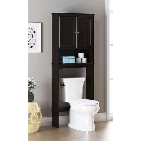 Spirich-Bathroom Shelf Storage Cabinet Over the Toilet with door