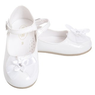 Angel White Patent Special Occasion Shoe Baby Girl 3-Toddler Girl 10
