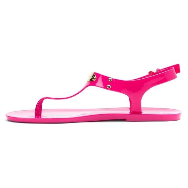 Michael Kors Womens Plate Jelly Split Toe Casual T-Strap Sandals