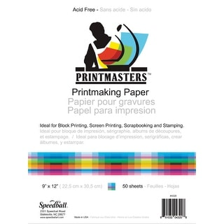 Speedball Print Master Block Printing Paper, 60 lb, 18 X 24 in, Pack of 50