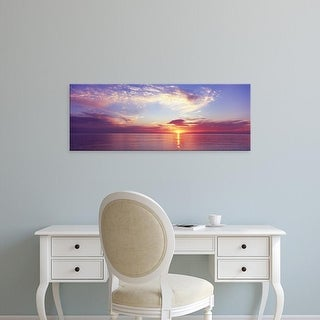 Easy Art Prints Panoramic Images's 'Sunset over the ocean, Gulf of Mexico, Florida, USA' Premium Canvas Art