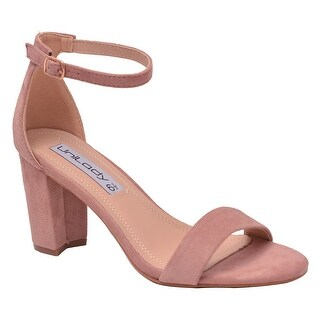 Unilady Adult Pink Buckled Ankle Strap Open Toe Heeled Sandals