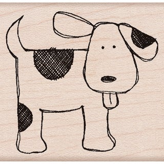 "Hero Arts Mounted Rubber Stamp 2""X2""-Happy Dog"