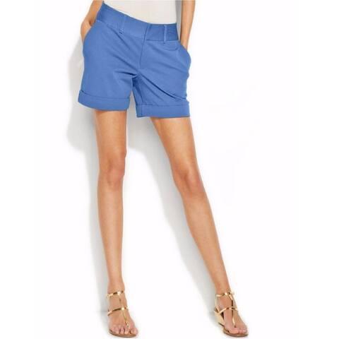 INC International Concepts Women's Cuffed Shorts, Blue (0)