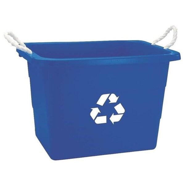 United Plastics TU0105 Recycling Rectangular Tub 19 Gal