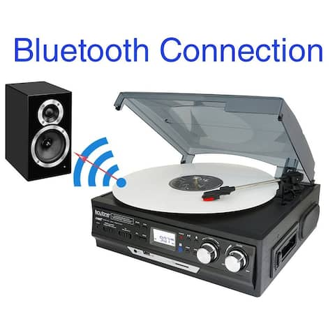 Boytone BT-37B-C Bluetooth 3-Speed Stereo Turntable, Wireless Connect to Devices speaker(Bluetooth out transfer), 2 Built-In Spe