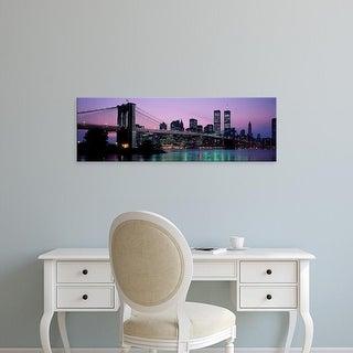 Easy Art Prints Panoramic Images's 'Brooklyn Bridge New York NY USA' Premium Canvas Art