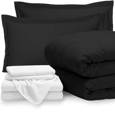 Bare Home Bed-in-a-Bag Down Alternative Comforter & Sheet Set