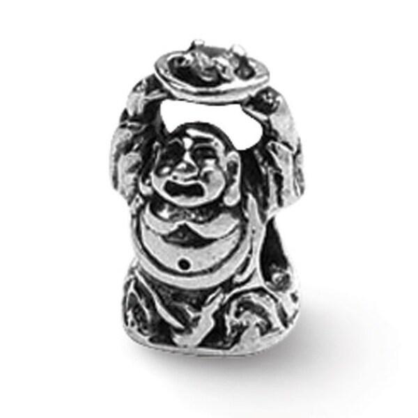 Sterling Silver Reflections CZ Buddha Bead (4mm Diameter Hole)