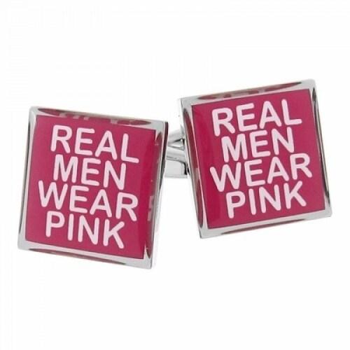 Real Men Wear Pink Breast Cancer Awareness Cufflinks