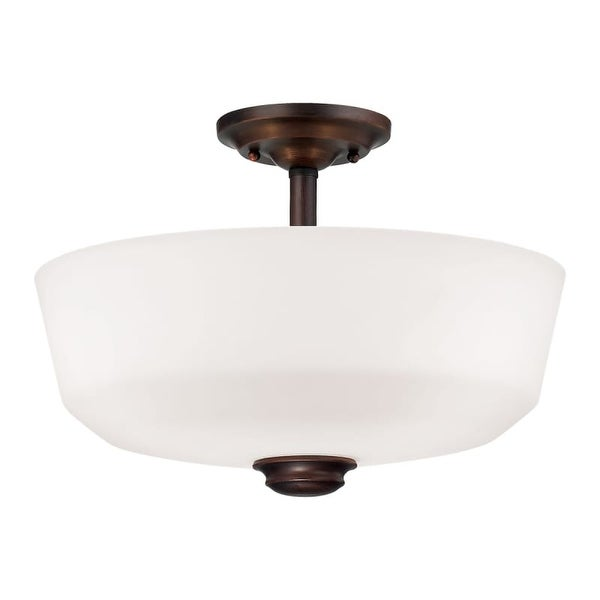 Millennium Lighting 2152 Cimmaron 2 Light Semi-Flush Ceiling Fixture