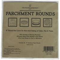 "The Krafty Gourmet Parchment Rounds 24/Pkg-White 8"""