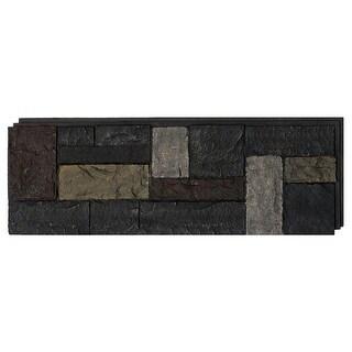 NextStone Polyurethane Faux Stone Castle Rock Panel - Ashford Charcoal