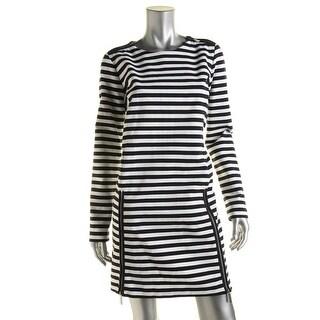 MICHAEL Michael Kors Womens Striped Long Sleeves Wear to Work Dress