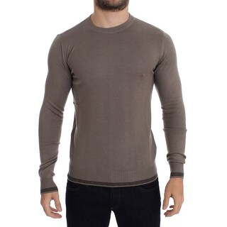 Costume National Beige Crewneck Wool Blend Sweater