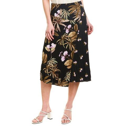 Vince Tropical Garden Midi Skirt