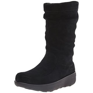 Fitflop Womens Loaff Mid-Calf Boots Suede Slouch - 5 medium (b,m)