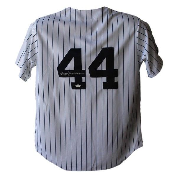 uk availability b90ce 53ef1 Reggie Jackson New York Yankees Majestic White L Jersey JSA