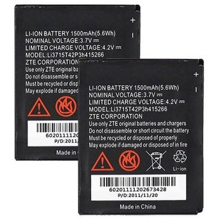 Replacement Battery for ZTE LI3715T42P3H415266 (2-Pack) Replacement Battery