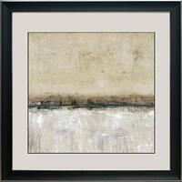 North American Art N2144 20 x 20 in. Blue Line II Framed Art Print