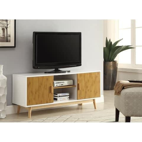 Carson Carrington Odda Wood/ White TV Stand