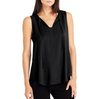Kenneth Cole New York Womens Blouse Pleated Sleeveless - xs