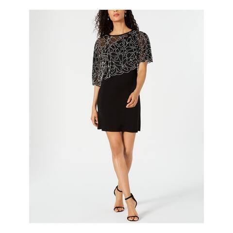 MSK Black Short Sleeve Above The Knee Dress S