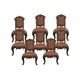 Marguax Side Dining Chair - Cushion Back Set of 8 - Neutral