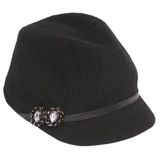 Womens Wool Military Cadet Cap w/ Band