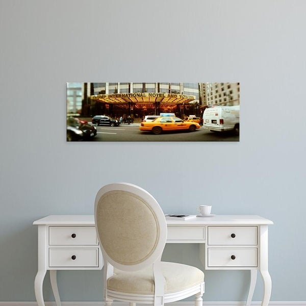 Easy Art Prints Panoramic Image 'Cars, Trump International Hotel, Columbus Circle, Manhattan, New York City' Canvas Art