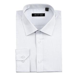 Men's Regular Fit 100% Cotton Striped Dress Shirt