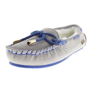 Dije California Womens Brittany Wool Suede Sheepskin Moccasin Slippers - 6 medium (b,m)