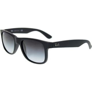 2973dff25 Ray-Ban Men's Gradient Justin RB4165-601/8G-51 Black Wayfarer Sunglasses