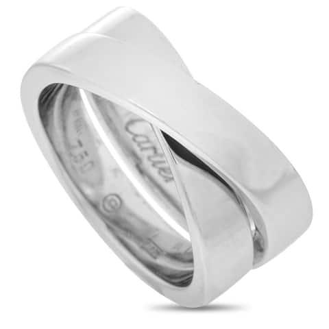 Cartier Paris Nouvelle Vague White Gold Ring Size 5.5