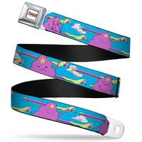 Adventure Time Logo White Full Color Lumpy Space Princess & Stretched Lady Seatbelt Belt