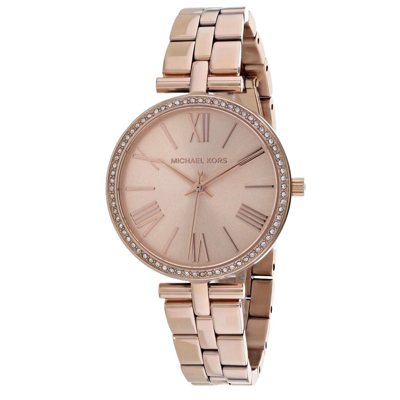 Michael Kors Womens Maci Rose Gold Dial Watch
