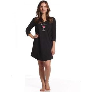 Rene Rofe Women's Fun Conversationals 3/4 Sleeve Sleepshirt - Plus Size