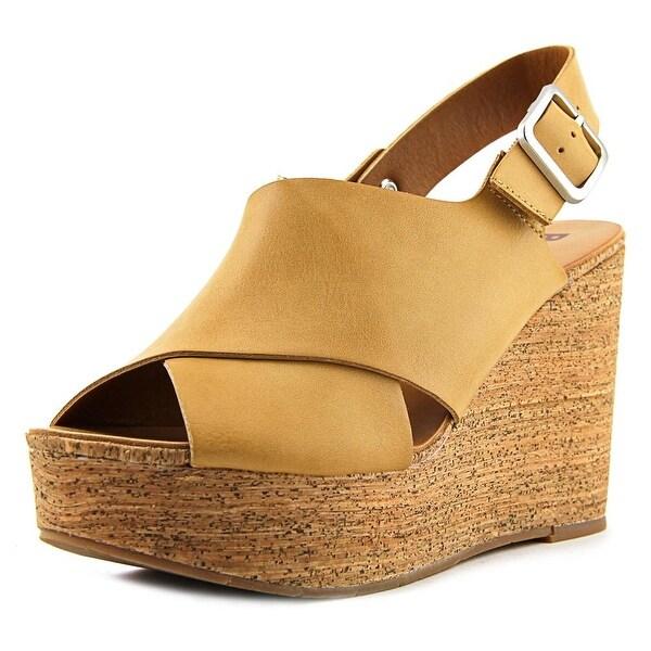 BC Footwear Cougar II Women Open Toe Synthetic Tan Wedge Sandal