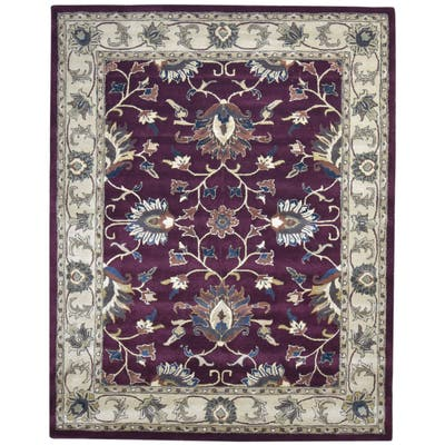 One of a Kind Hand-Tufted Persian 8' x 10' Oriental Wool Red Rug - 8' x 10'