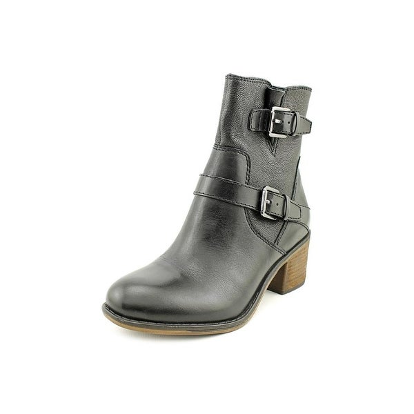 Franco Sarto Larisa 2 Women  Round Toe Leather Black Ankle Boot