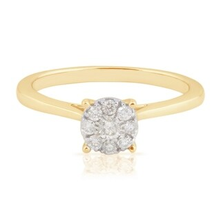 0.23 Ctw Classic Round Brilliant Cut Real Natural White Diamond Engagement Ring