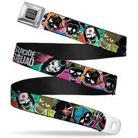 Suicide Squad Logo Full Color Black Red Grays Suicide Squad 9 Stylized Seatbelt Belt