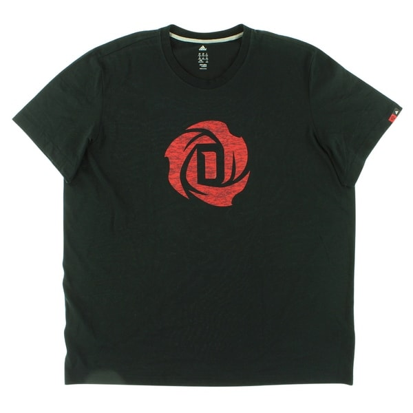 fc4be732 Shop Adidas Mens Rose Logo T Shirt Black - Black/red - XxL - Free Shipping  On Orders Over $45 - Overstock - 22613755