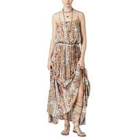 Free People Womens Valerie Maxi Dress Floral Print Tiered