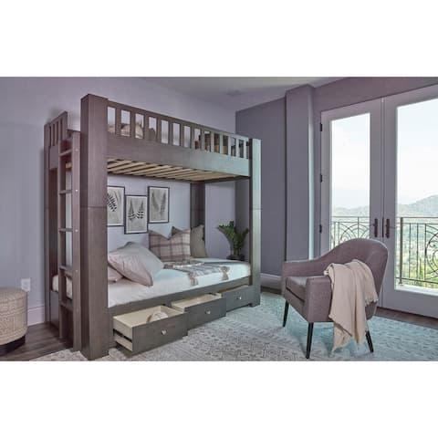 Taswell Dark Grey Twin Over Twin Bunk Bed