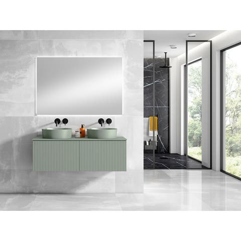 """Lucena Bath 48"""" Bari Vanity With Matching Top and Vessel Sink"""