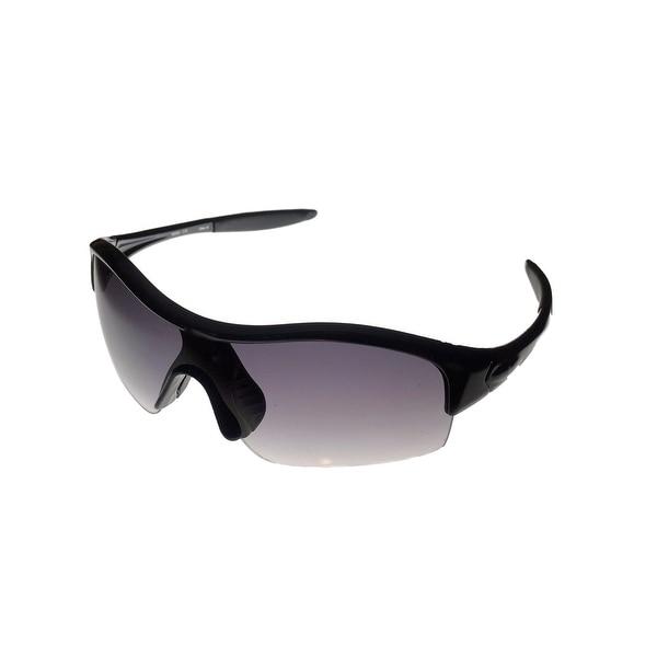 Timberland Mens Sunglass Black, Gradient Rimless Lens Plastic Shield TB7090 1B - Black - Medium