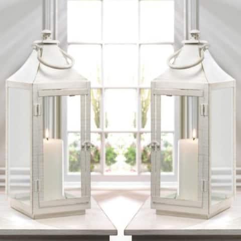 Set of 2 Traditional White Lanterns